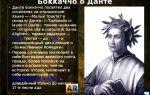 Джованни боккаччо – теперь, о данте, как надеюсь я: читать стих, текст стихотворения поэта классика
